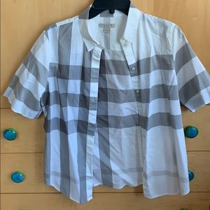 Burberry short sleeve collared shirt